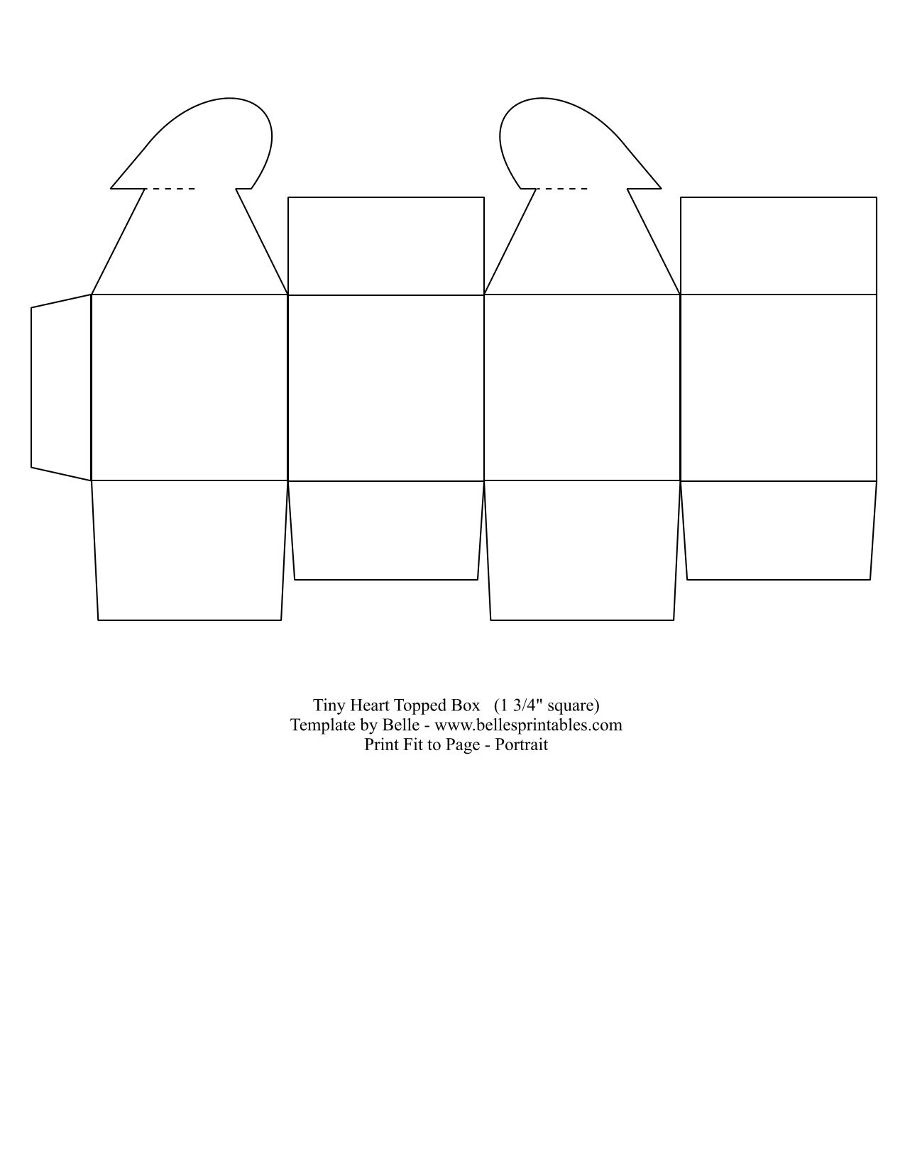Heart-Topped Box | Box templates, Template and Box