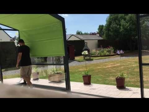 Vidéo store abri de terrasse Aménagement Abri piscine Pinterest - toile tendue pour terrasse