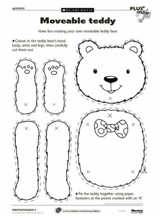 Movable Bear | Hampel Tier | Pinterest | Kinder, Vorschule und ...