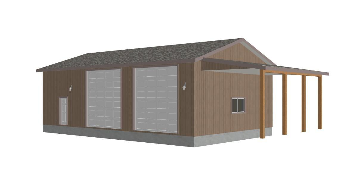 garage plans garage 300x156 #G393 Martin 8002 37, 30 X 50 X 14 - new blueprint for 3 car garage
