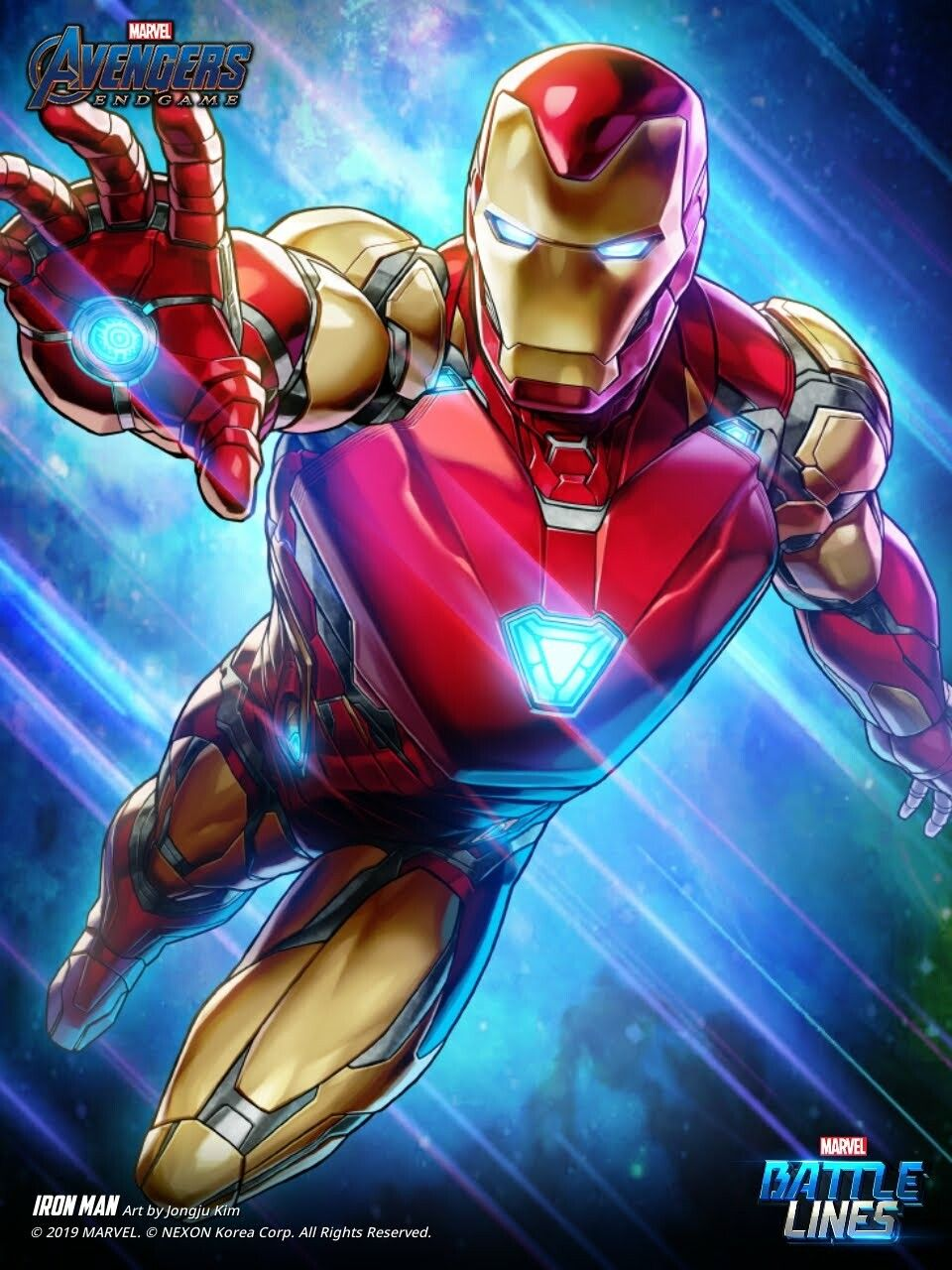 Artstation Marvel Battle Lines Artwork Iron Man Mark 85 Endgame Haje 714 Iron Man Comic Iron Man Mark 85 Iron Man Art