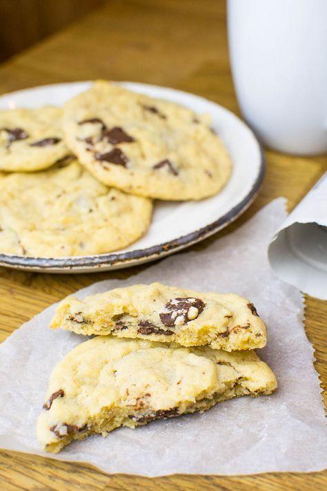 Perfekte Weihnachtskekse.Perfekte Vegane Chocolate Chunk Cookies