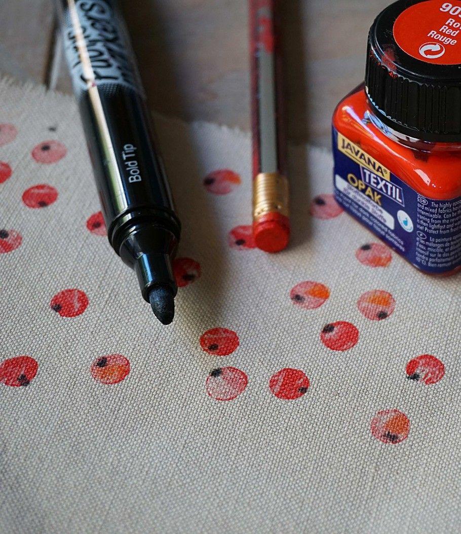 johannisbeeren auf stoff stempeln develloppa bastelideen stoff bedrucken stofftaschen. Black Bedroom Furniture Sets. Home Design Ideas