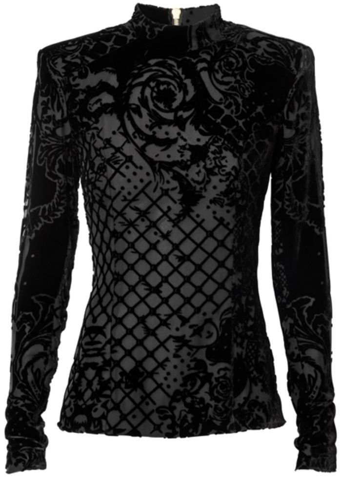 2bd34f6109d36 ... Mini Dress - Black or Green. Balmain x H M Velvet Blouse Shirt Size 12  | eBay