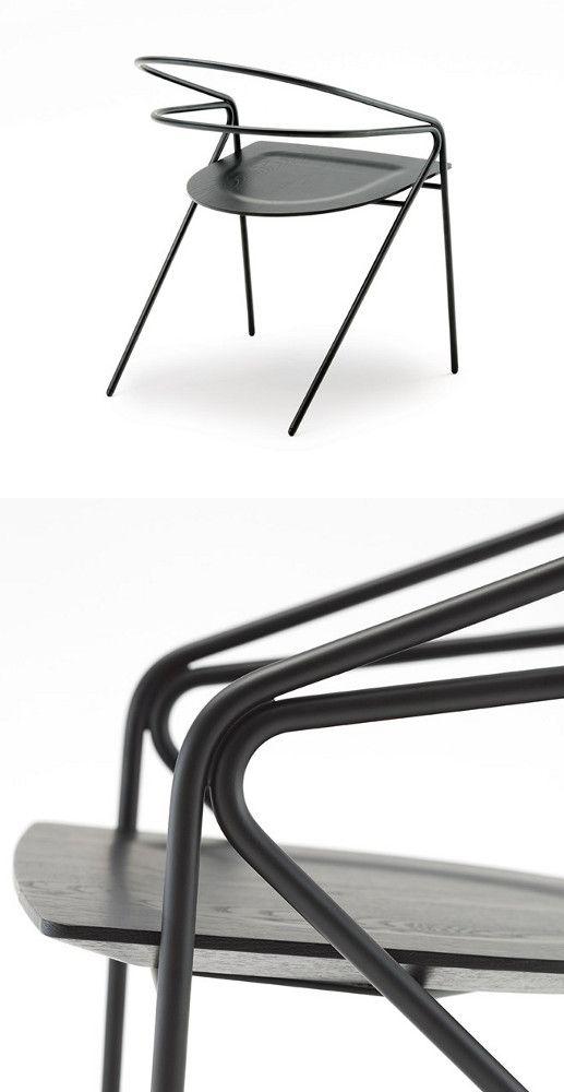 Steel #chair GEORGE'S LIGHT by Living Divani   #design David Lopez Quincoces @livingdivani