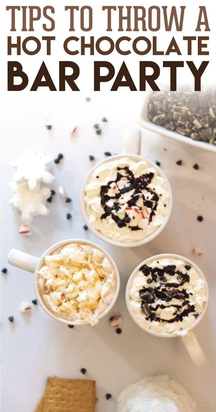 Tips to Throw an EPIC Hot Chocolate Bar Party   Christmas Decor ...