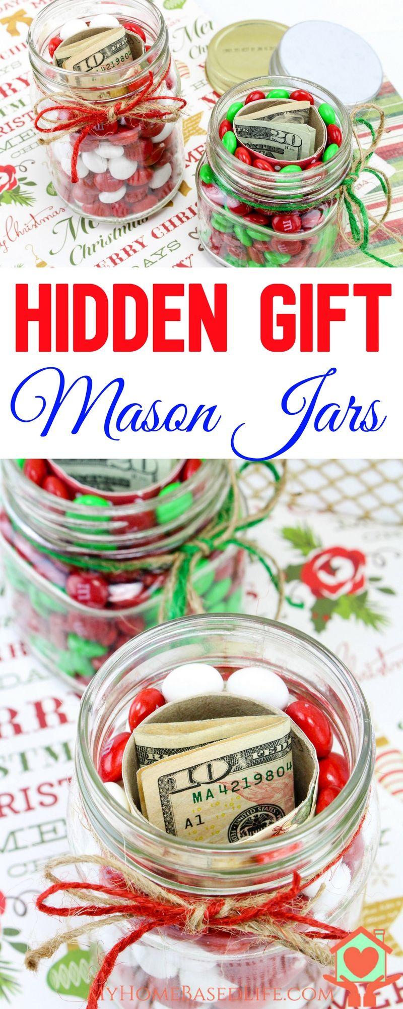 Hidden Gift Jars | Christmas Gift Jars | Gifts in a Jar | Christmas ...