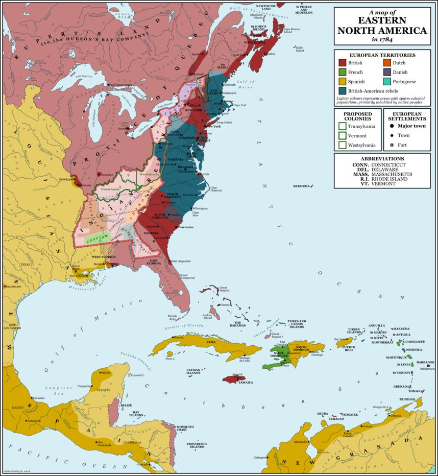 North America, 1784 By Rubberduck3y6.deviantart.com On