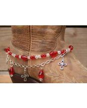 Boot Candy Boot Candy Red Crystals and Hearts