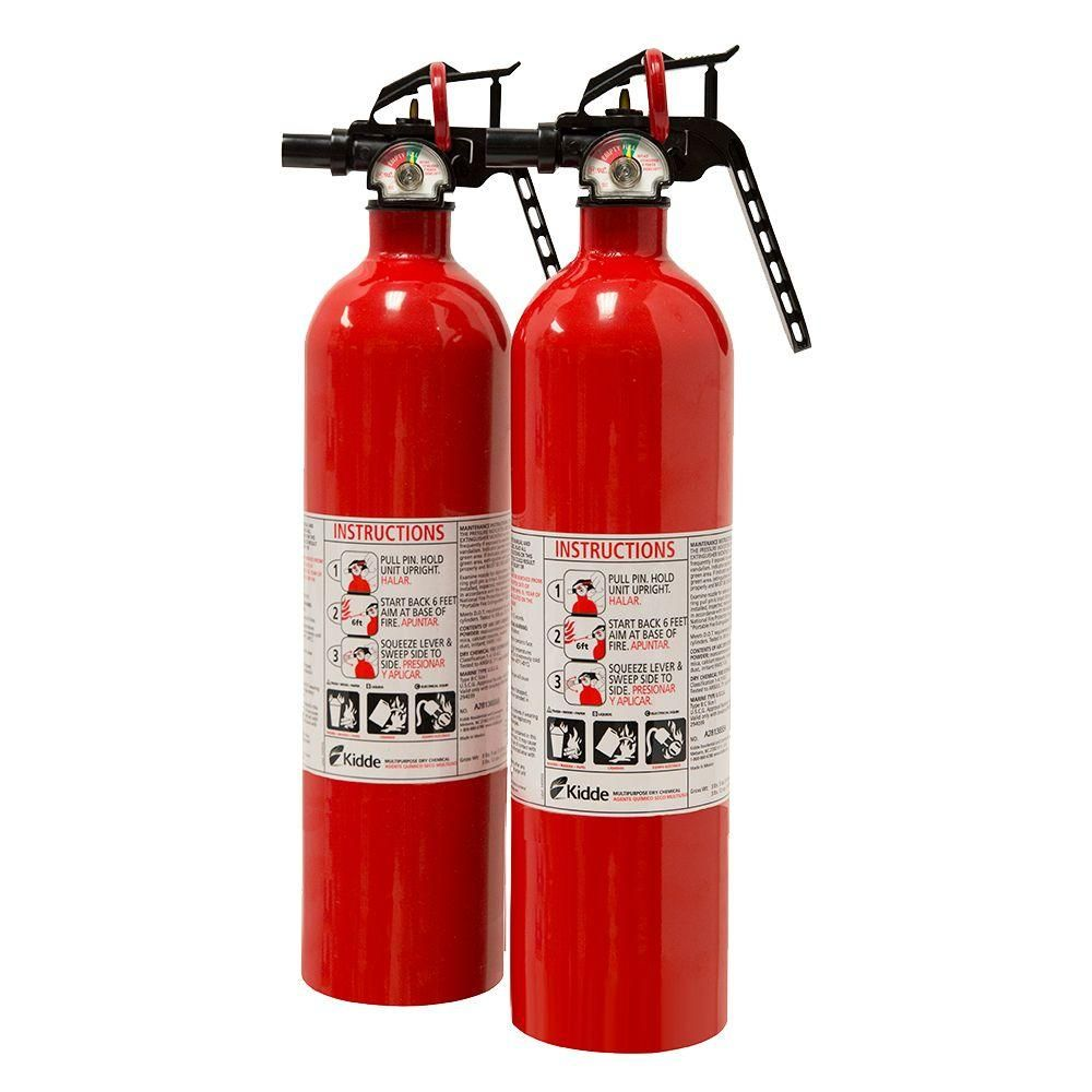 Kidde 1 A 10 B C Recreational Fire Extinguisher 2 Pack 21027416mtl Fire Extinguisher Automatic Fire Extinguisher Extinguisher