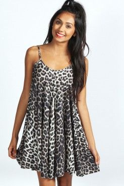 Larissa Leopard Strappy Swing Dress - Robes de jour - Robes - Vêtements Femme