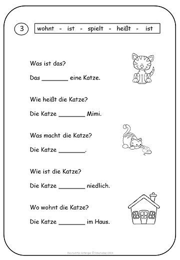 Simple Texts And Worksheets For Beginners Learn German
