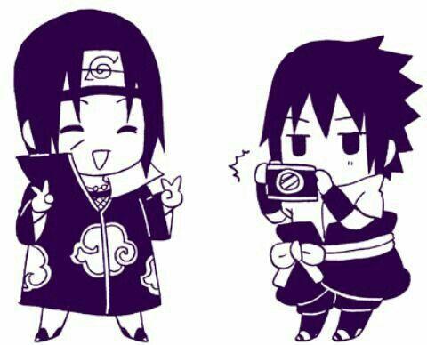 Itachi Sasuke Cute Chibi Camera Picture Funny Akatsuki Uchiha Brothers Naruto Anime Sasuke Sasuke E Itachi Naruto Engracado