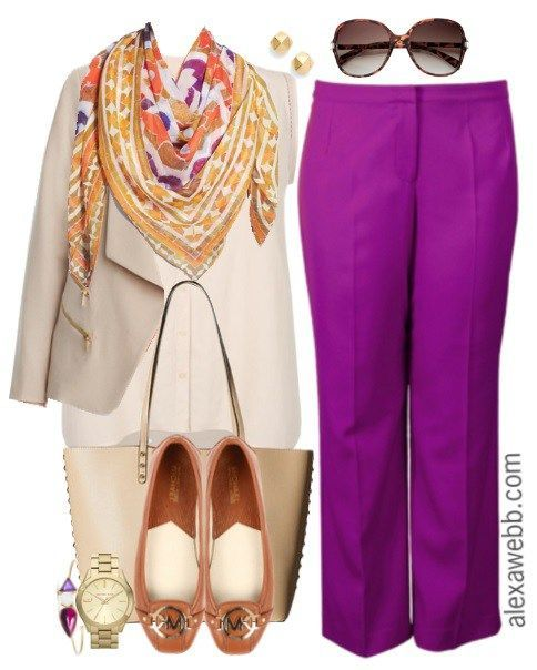 Photo of Plus Size Work Outfit – Bold Trousers – Alexa Webb