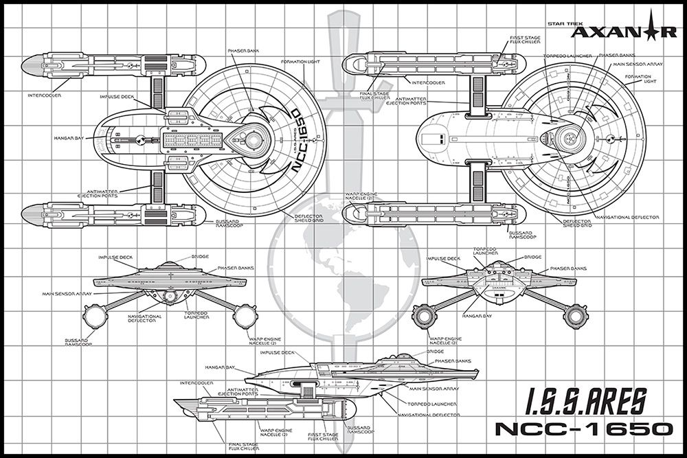 seantourangeau Here is a Terran Empire variant of the Ares - copy plane blueprint wall art
