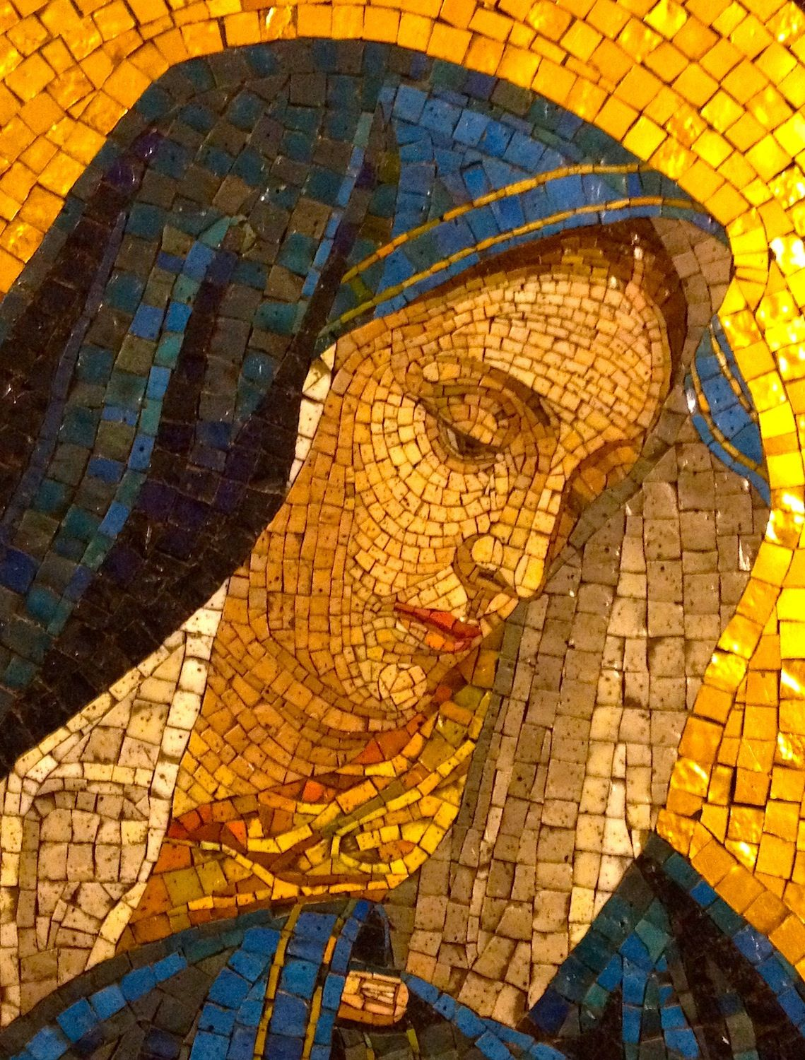 Peacefulrespite Beautiful Mosaic Of Blessed Mother