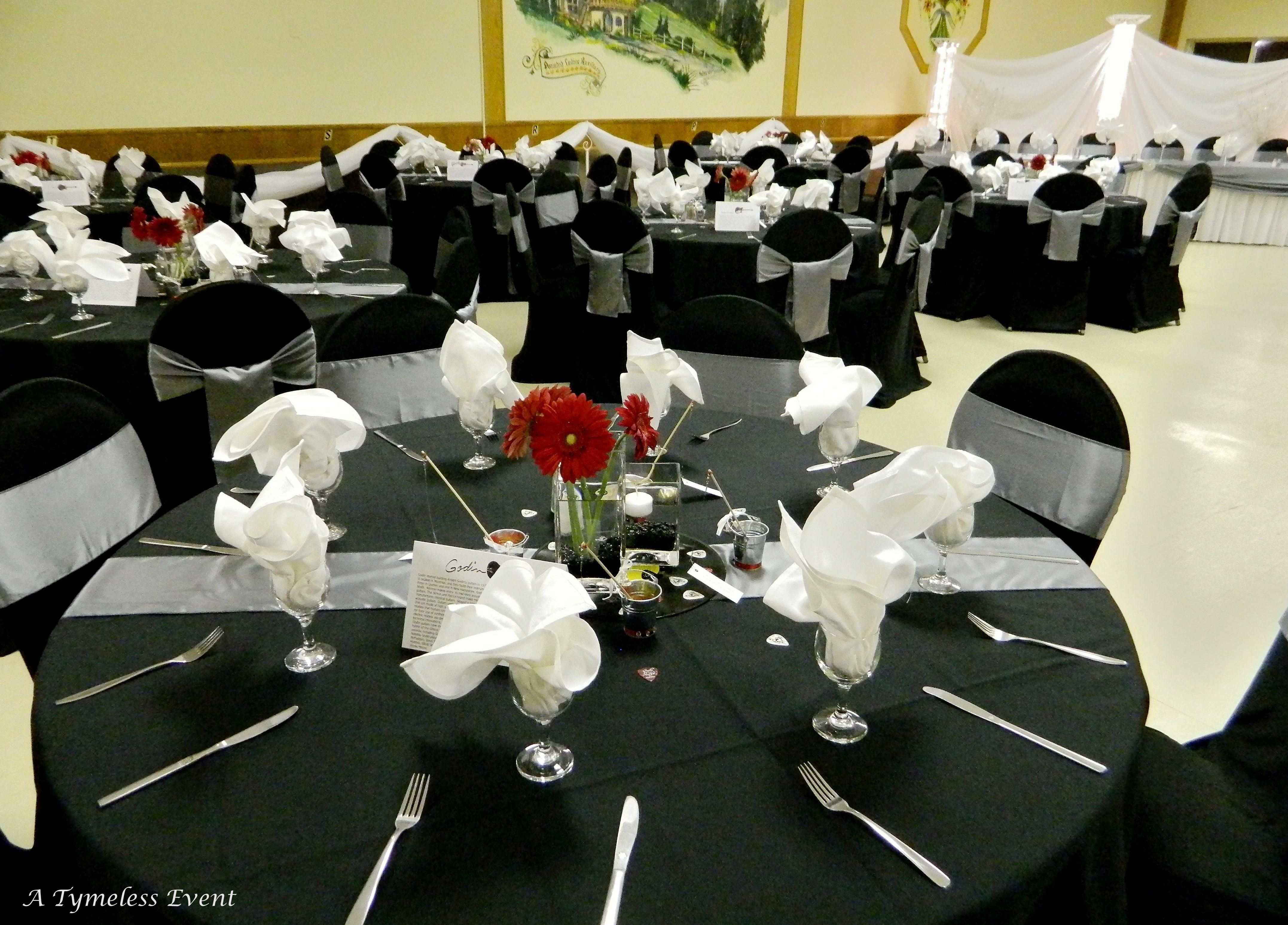 Gray Chair Covers For Weddings Do Massage Chairs Work Square Table Decoration A Reception With