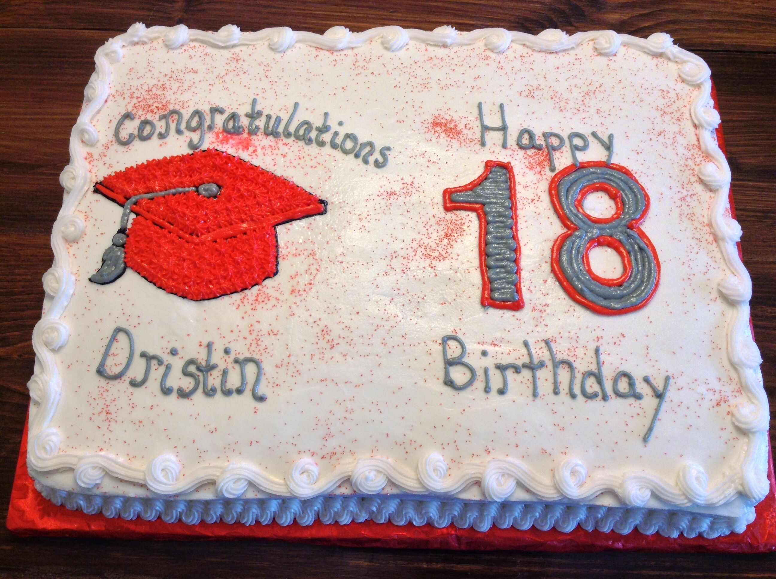 Graduation birthday cake
