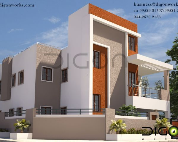 3d Elevations For Architects Interior Designers Anna Nagar West With Images House Design Architect Design