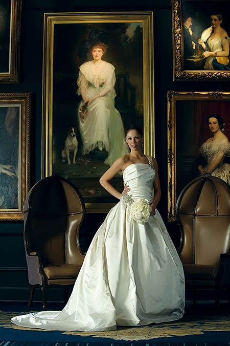 The King and Queen chairs are the perfect backdrop for wedding day photos, rain or shine at The Ritz-Carlton, Atlanta.