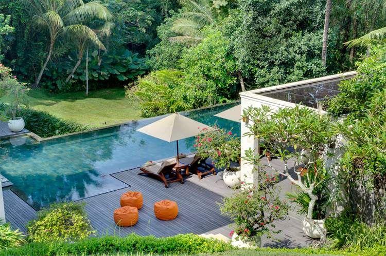 Aménagement jardin paysager autour d\'une piscine – 40 idées fascinantes