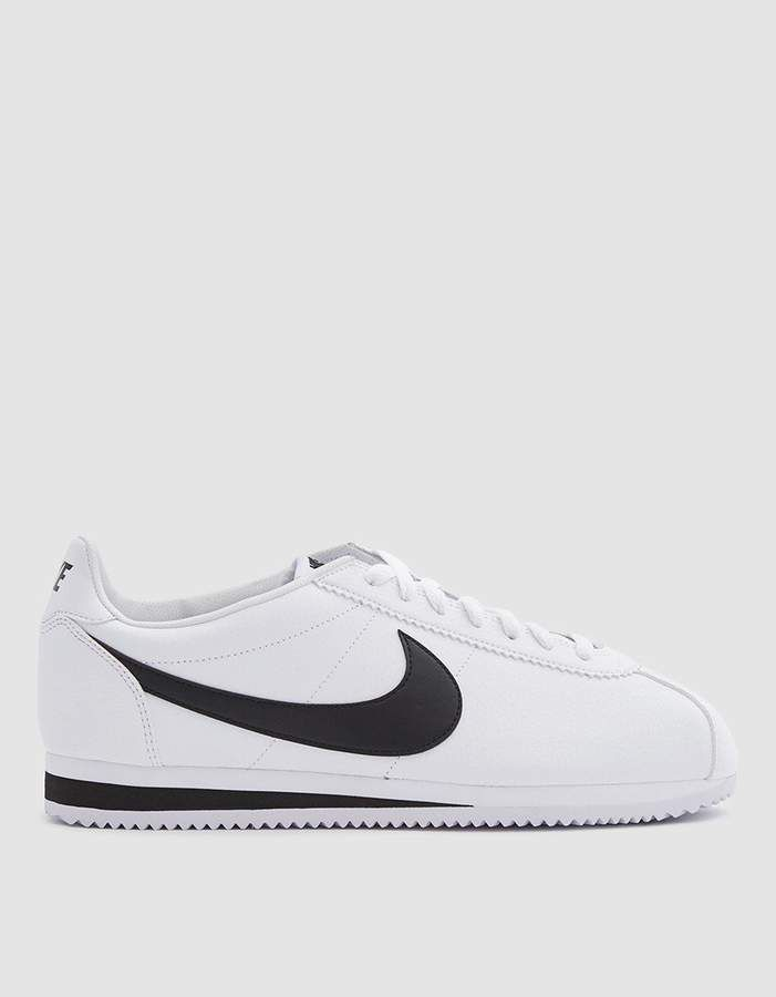 Nike / Classic Cortez Leather Shoe in White/Black   Nike ...