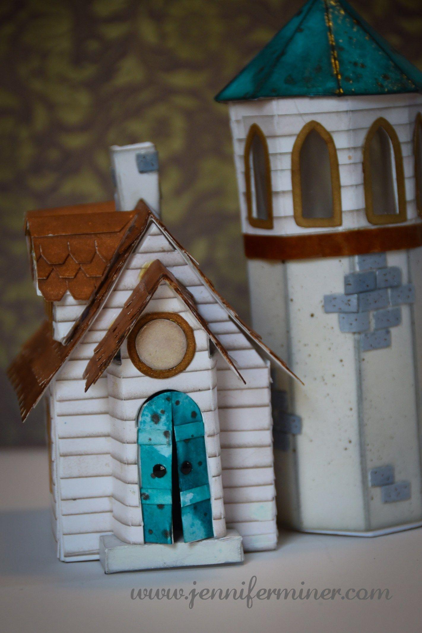 The Tower House  Tim Holtz Village Dies By Jennifer