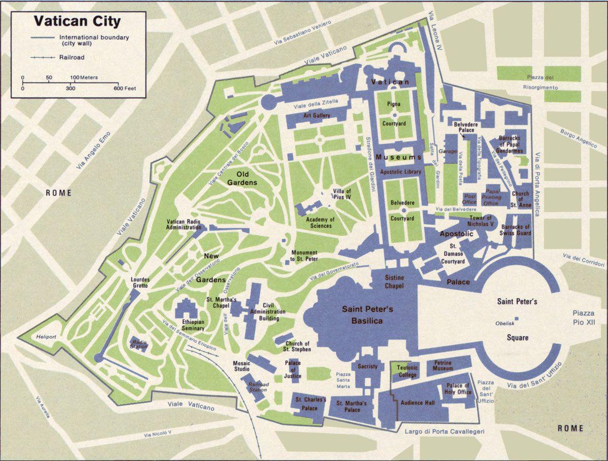 Vatican City | Map of Vatican City | Bucket List | Vatican city ...