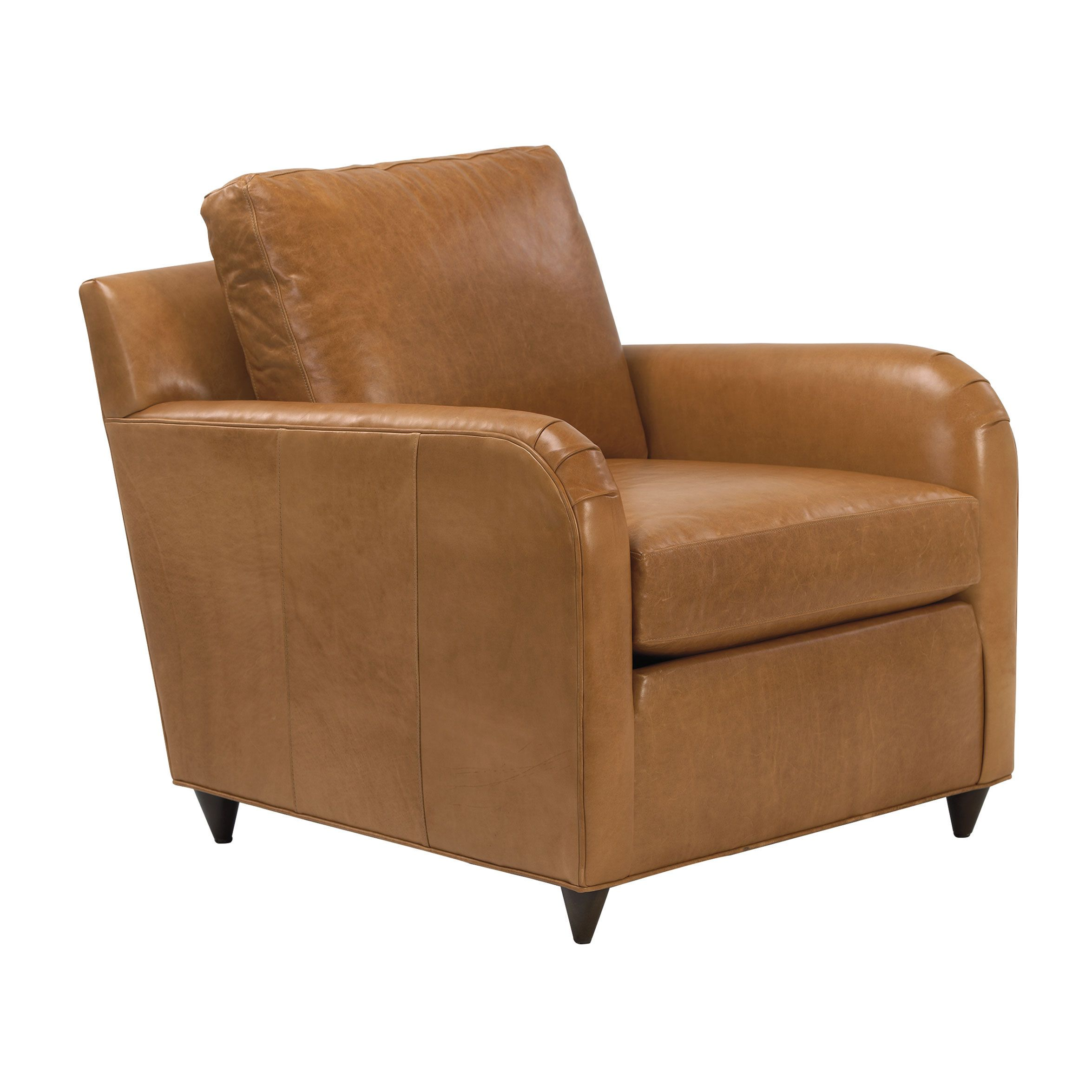 Fall Introductions  Greggy Leather Chair, Astor/Fawn   Ethan Allen US