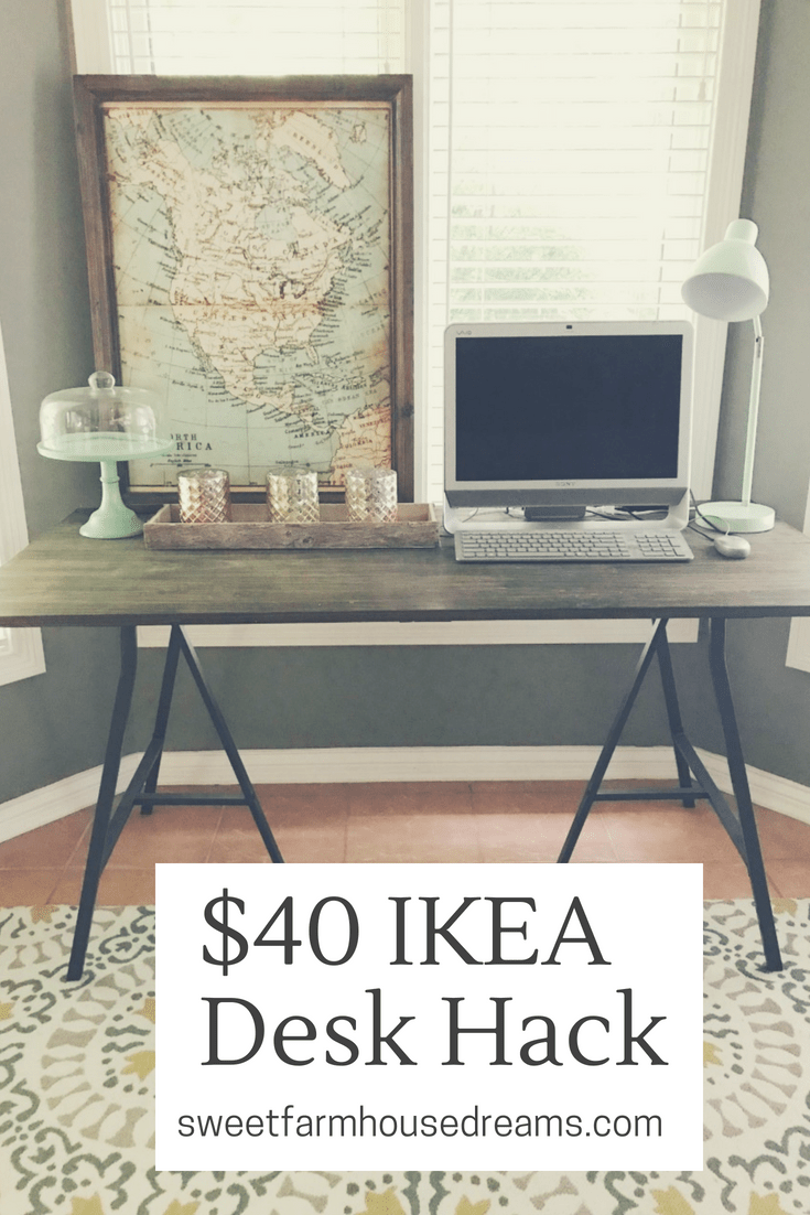 IKEA DIY Desk Hack 40 Ikea desk, Desk hacks, Diy desk