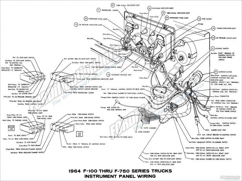 1957 Ford Fairlane Wiring Diagram Electrical System Schematic Ford Fairlane 1964 Ford Ford