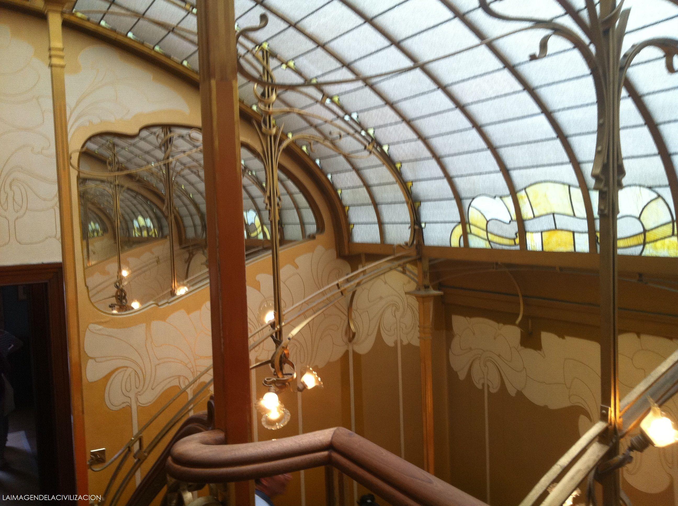 Detalle espejo mus e horta bruselas arquitectura e for Art nouveau fenetre