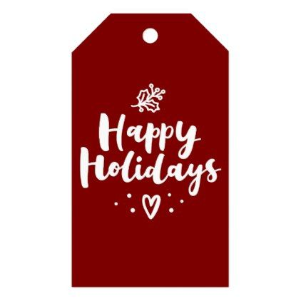 Happy holidays mistletoe and heart gift tags merry christmas diy happy holidays mistletoe and heart gift tags merry christmas diy xmas present gift idea family negle Choice Image
