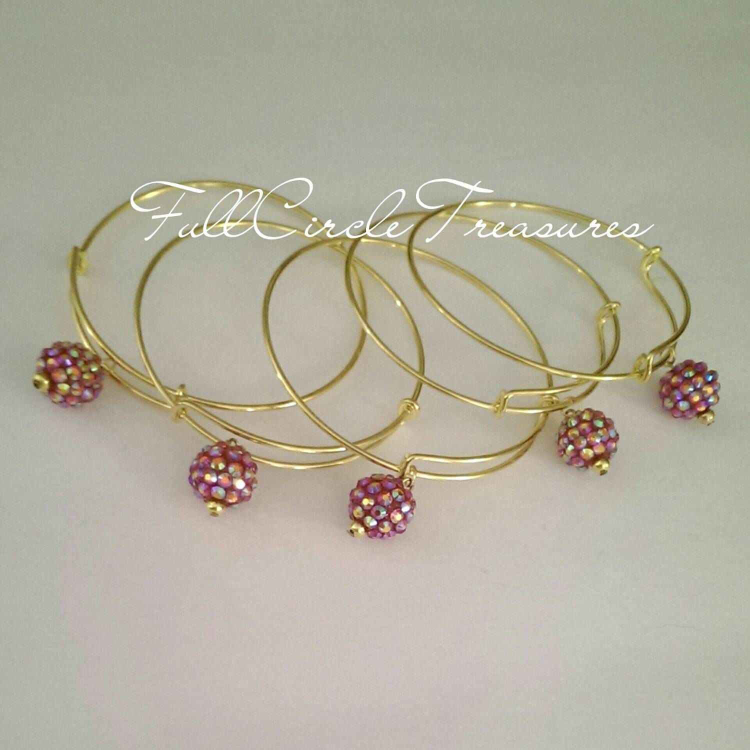 swarovski of ombre bracelet wedding day in rivoli an crystal perfect pink pin