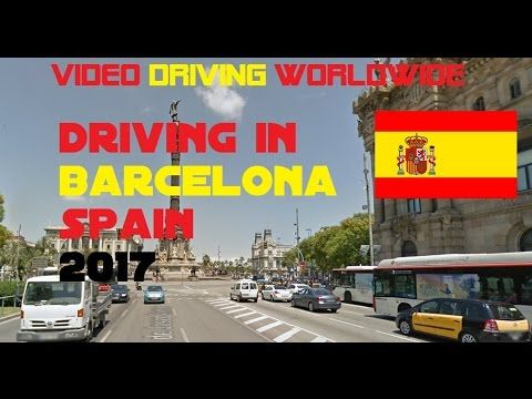 Driving in Barcelona Spain 2017 | Video Driving Worldwide