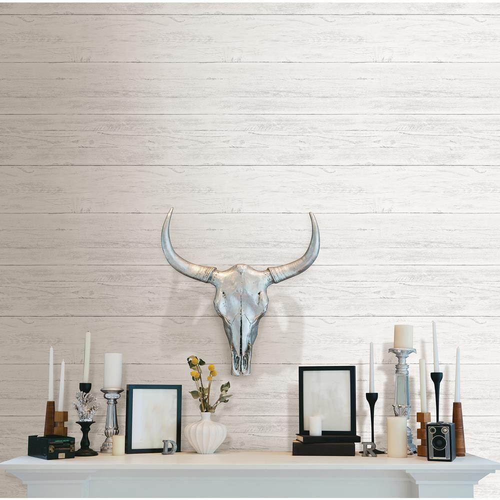 Shiplap Peel And Stick Wallpaper Sample White Off White Farmhouse Wallpaper Nuwallpaper Wood Wallpaper