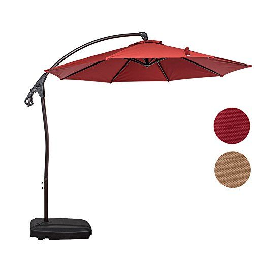 sundale outdoor 10 feet aluminum offset patio umbrella wi httpswww amazoncomdpb01hjjs254refcm_sw_r_pi_dp_x_rmsczbt8hc7g8 - Amazon Patio Umbrella