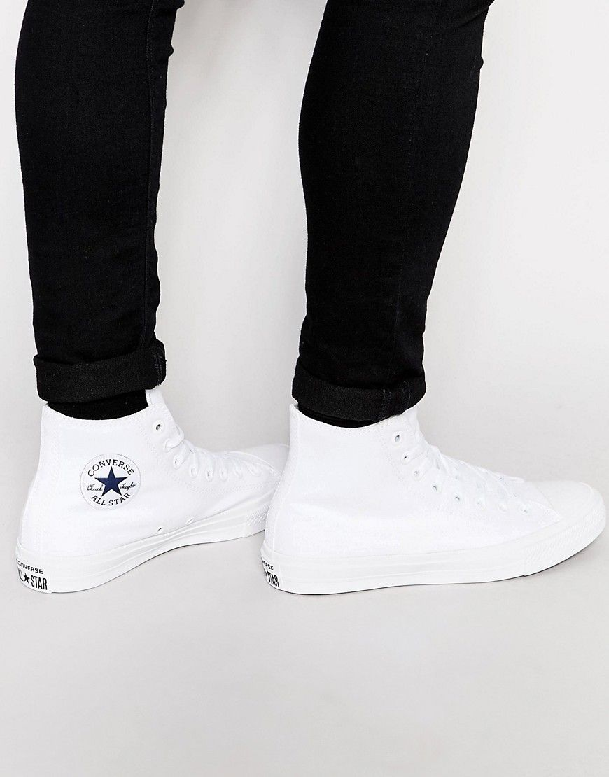 87a7824998c5 Converse Chuck Taylor All Star II Hi-Top Plimsolls In White 150148C ...