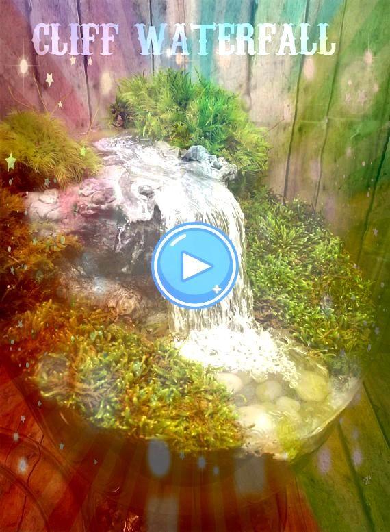 a Miniature Waterfall Pond or River to your Fairy Garden Terrarium  Unique Terrarium Ac Add a Miniature Waterfall Pond or River to your Fairy Garden Terrarium  Unique Ter...