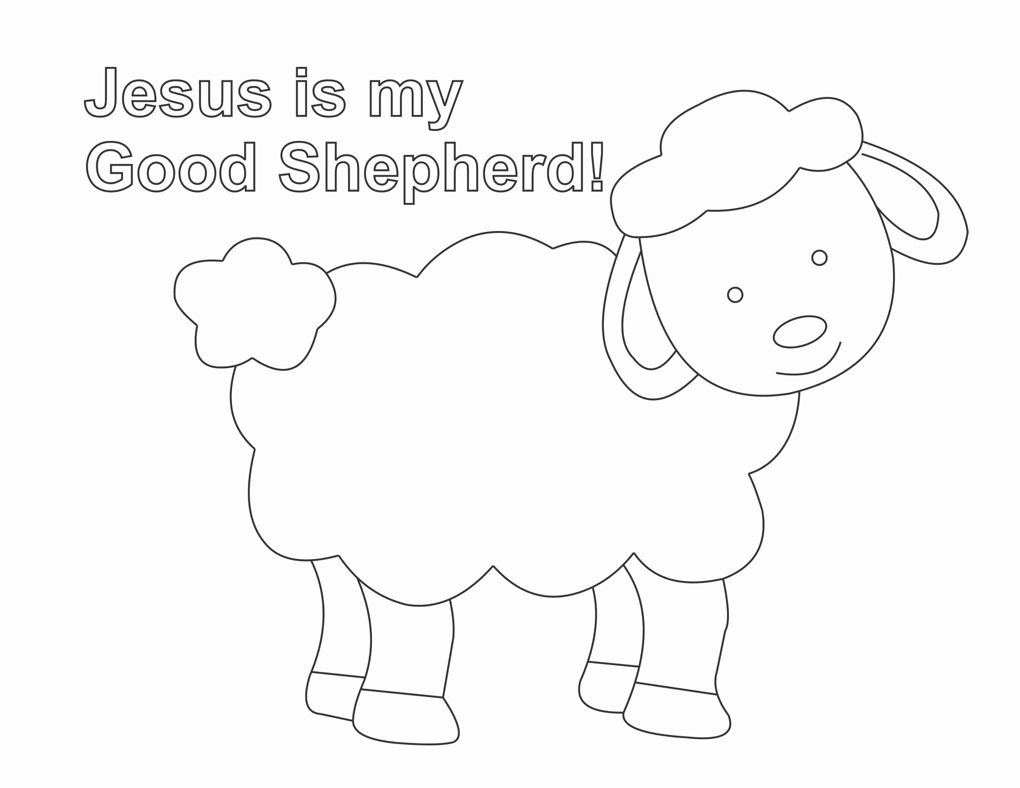 Good Shepherd Coloring Page Elegant Jesus Is The Good