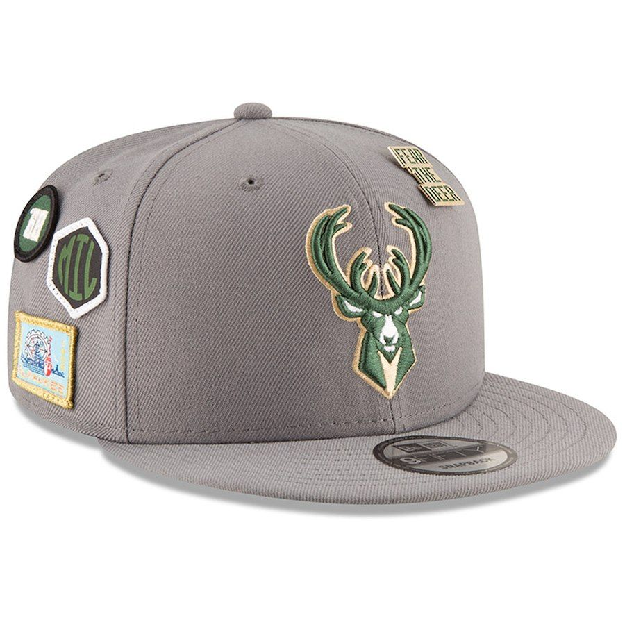 lowest price 8deda 542e5  Men s Milwaukee Bucks New Era Gray 2018 NBA Draft 9FIFTY Adjustable Hat,  Your Price   35.99