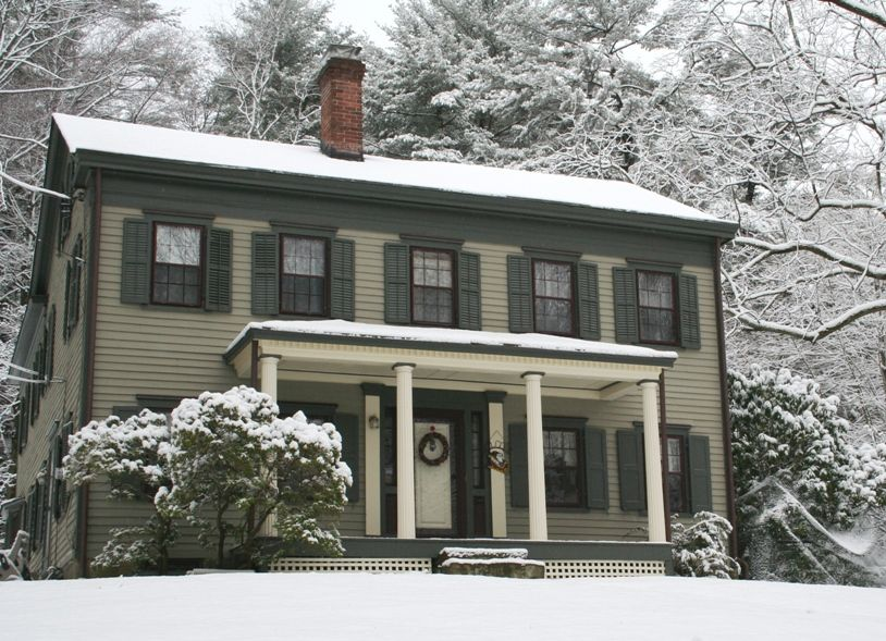 Early 19th century federal style by historic house colors pre civil war house colors in 2019 for Colonial revival stone exterior paint