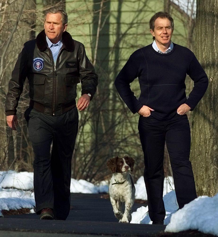 Simian line palmistry tony blair tony bliar - George Bush And Tony Blair Working Together After 9 11 To Keep Us Safe