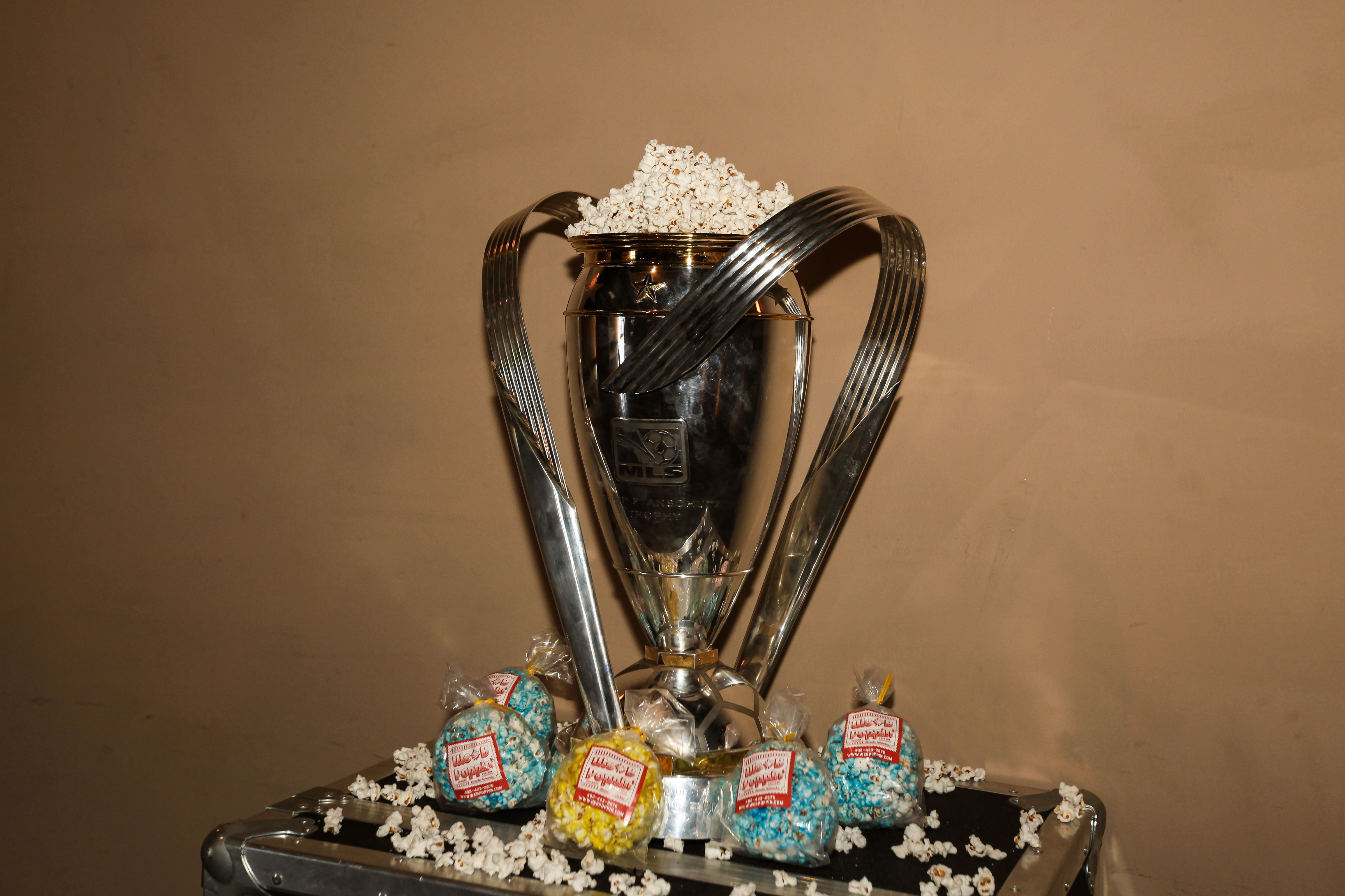 WE B Poppin' Popcorn and the MLS Cup!