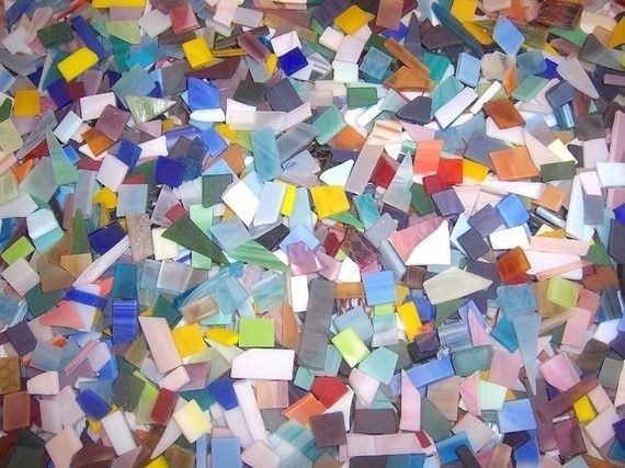 500 Mixed Colors Confetti Stained Glass Mosaic Tiles With Images