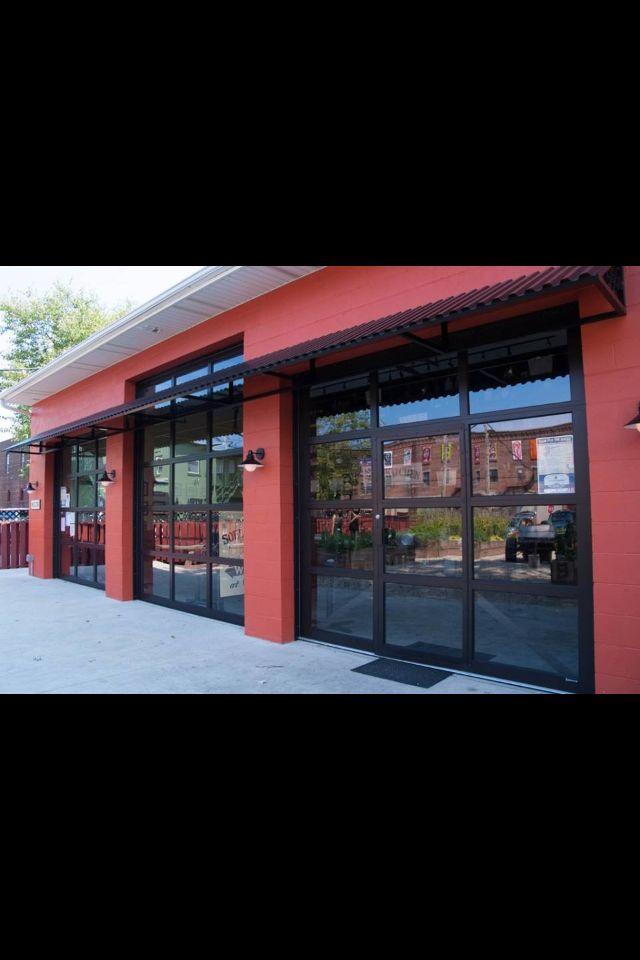 Ada Compliant Pass Door Installed As A Public Egress Option For Bon Jovi S Soul Kitchen In New Jersey Sectional Door Door Installation Roll Up Doors