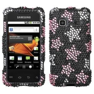 Insten Falling Stars Diamante Phone Case Cover for Samsung M820 Galaxy Prevail #1130475