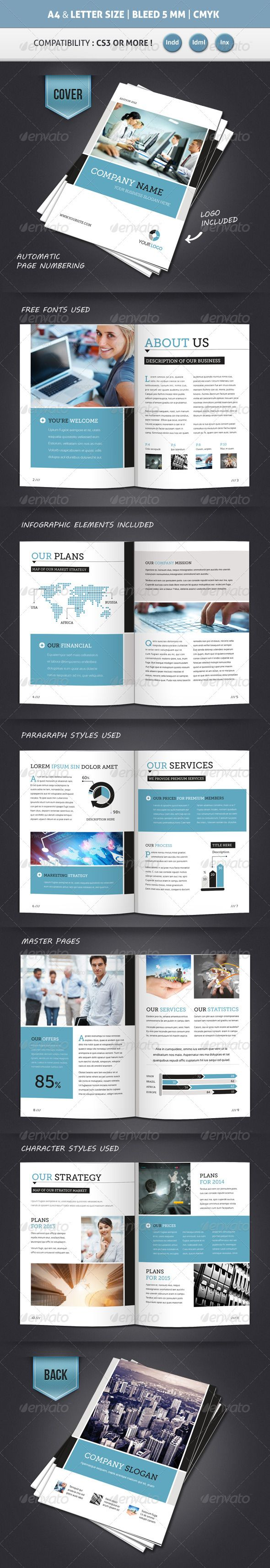 Corporate Brochure Template A  Letter  Pages  Corporate