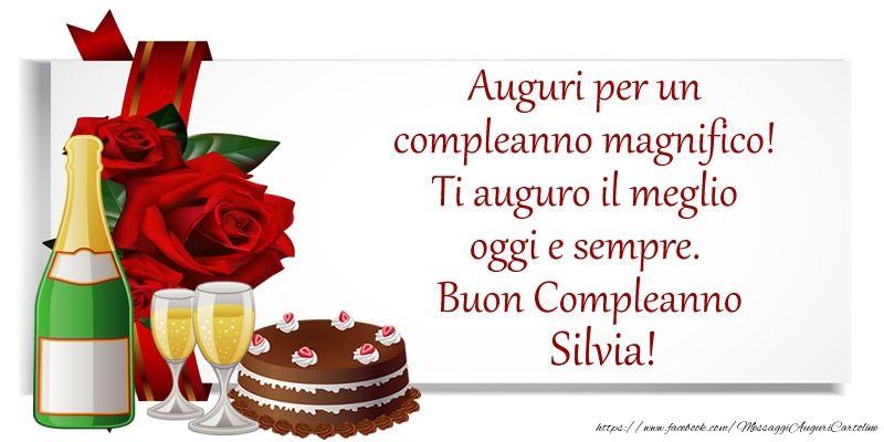 Auguri per un compleanno magnifico! Ti auguro il meglio oggi e