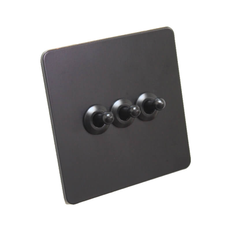 Our Bastille Black Toggle Light Switches Are Stylish In Design And Simple In Function Up For On And Down F Toggle Light Switch Light Switch Remote Light Switch
